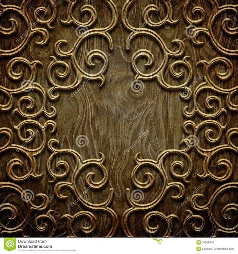 carved wooden pattern stock photo image  design floral