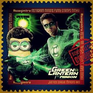 Justice League Minions ~ Green Lantern | Minion Stamps ...