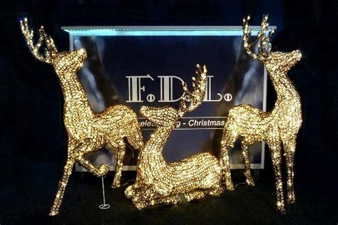 Weihnachtsdekoration Beleuchtet Außen by 3d Led Acryl Schmuckfigur Stehendes Rentier Warmwei 223 E Led