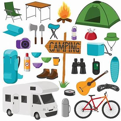 Vector Chair Folding Camping Clip Illustrations Icons