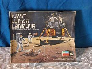 Vintage 1970 First Lunar Landing Apollo 11 Model Kit 1/48 ...