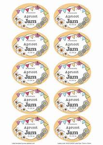 great british summer apricot jam jar labels you can edit With jelly jar label template