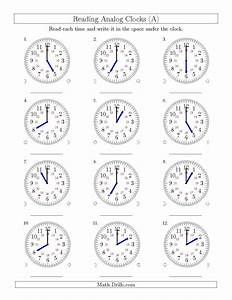 The Reading Time On 24 Hour Analog Clocks In Hour