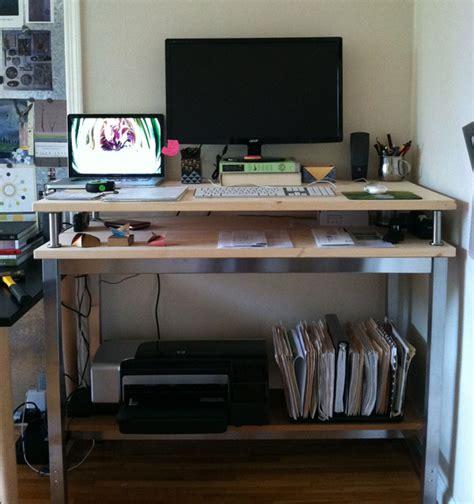 ikea computer desk hack 10 ikea standing desk hacks with ergonomic appeal