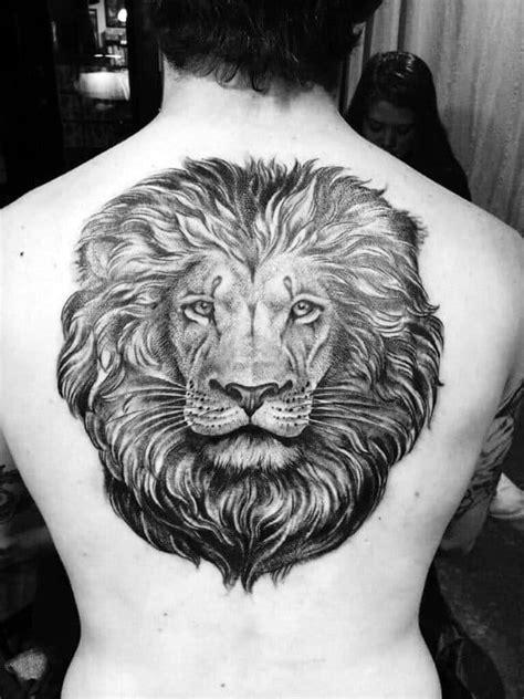 50 Lion Back Tattoo Designs For Men - Masculine Big Cat