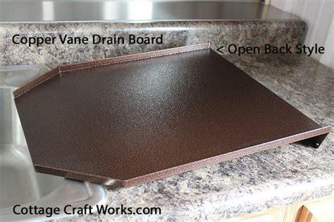 Decorator Kitchen Sink Drain Board, Copper, Black Granite