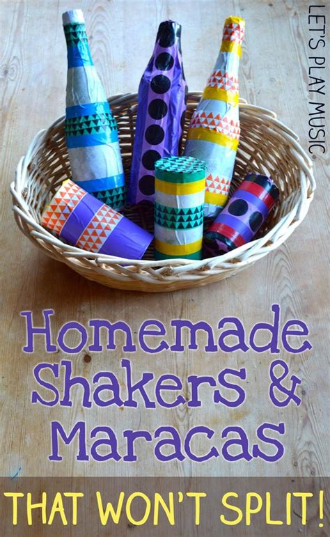 homemade musical instruments shakers  maracas lets