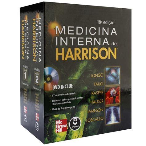 Medicina Interna Harrison - livro medicina interna de harrison volumes 1 e 2 dvd