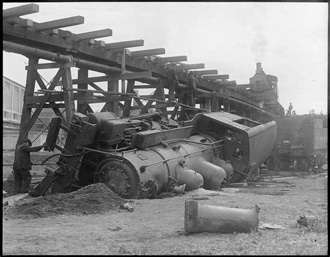 Train Wreck. Maine 1926 (possibly At S.d. Warren Paper Co
