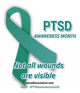 PTSD Awareness Month Ribbon