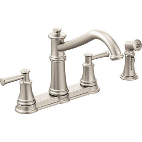 moen two handle kitchen faucet moen 7255srs belfield spot resist stainless two handle