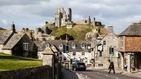 Corfe Castle Was An Historic Part Of England To Visit In