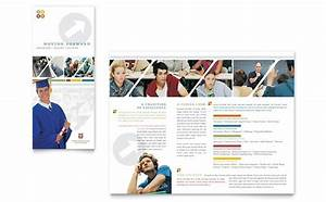 college university brochure template design With college prospectus design template