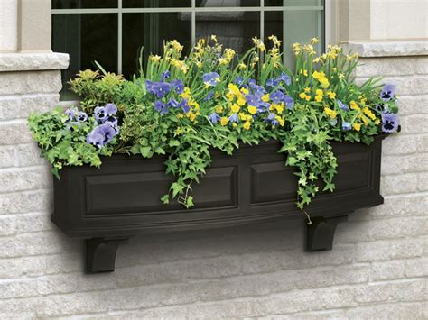 Window Planters by Decorative Vinyl Window Boxes Flower Planters And Brackets