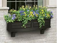 flower boxes for windows Decorative Vinyl Window Boxes, Flower Planters and Brackets