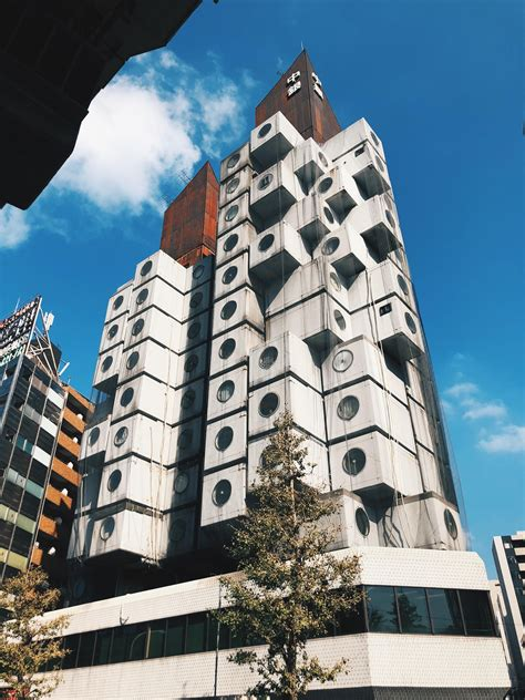 Nakagin Capsule Tower in Ginza area Tokyo Japan by ...