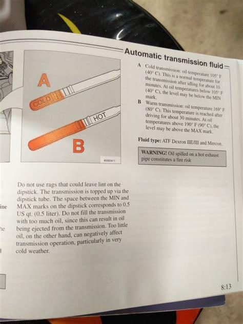 transmission dipstick question