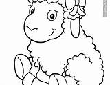 Cartoon Sheep Lamb Coloring Drawing Printable Sheeps Mammals Getdrawings sketch template