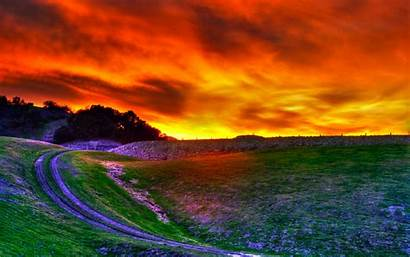 Sunset Nature Wallpapers Hills Rolling Hdr Widescreen