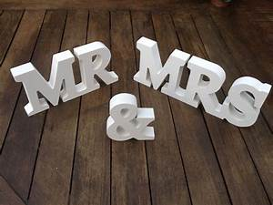 new wedding gift white wood mr mrs letters mr mrs sign With mr and mrs wooden letters for weddings