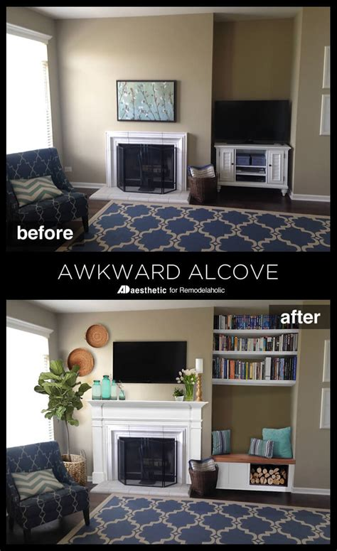remodelaholic real life rooms  awkward alcove