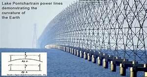 Power lines over Lake Pontchartrain elegantly demonstrate