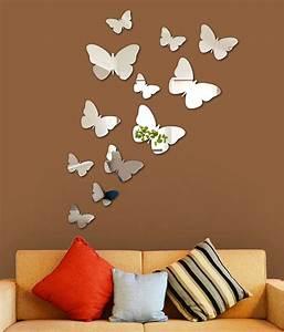 Wall1ders 3D Acrylic Mirror Butterflies Wall Sticker