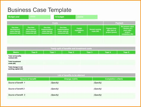 6 Nhs Business Case Template Iiart
