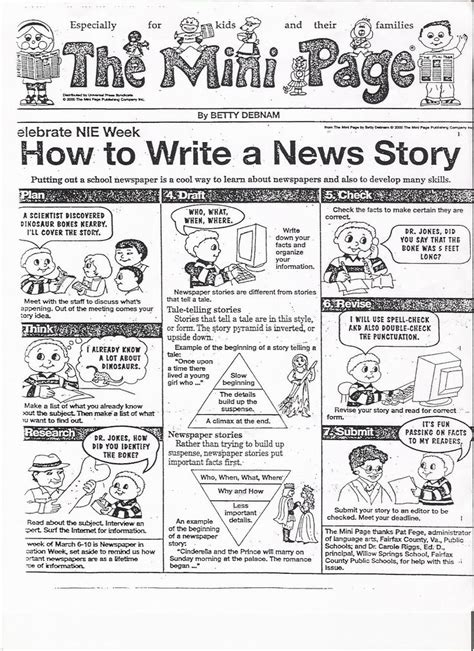 Teaching Middle School Students How To Write A Resume by Write How To Write An Article Newspapers In Education Programs Education Smrt