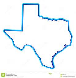 State of Texas Outline Drawing