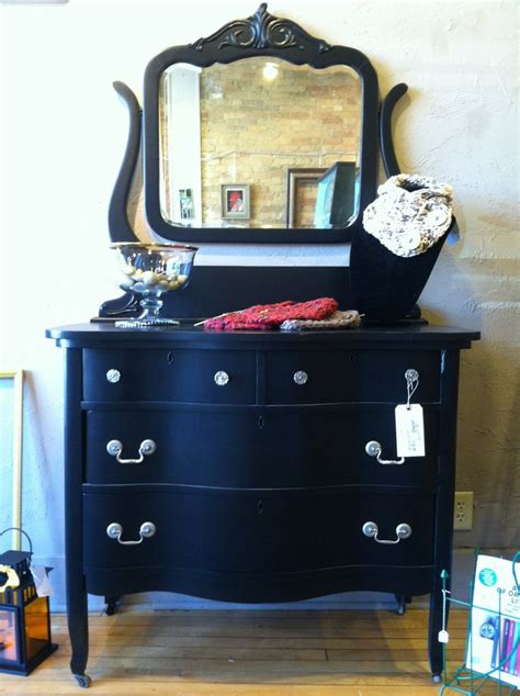 black painted dresser  mirror salvage sisters store