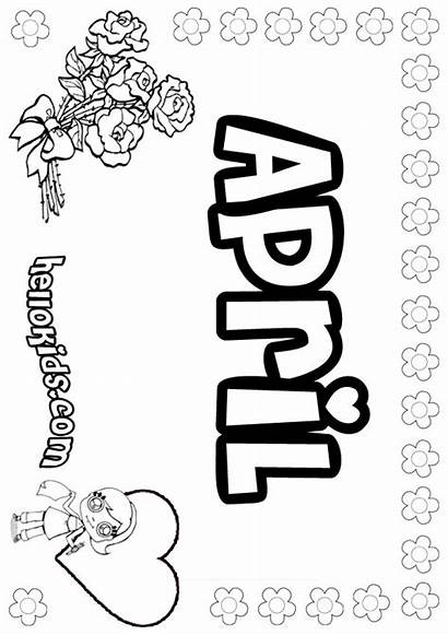 April Coloring Pages Sheets Hellokids