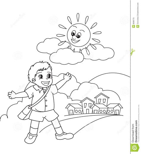 going to school clipart black and white school boy royalty free stock photo image 8588775