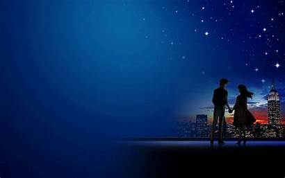 Romantic Couples Anime Wallpapers Couple Backgrounds Night