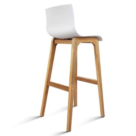 kitchen islands and breakfast bars 2x plastic bar stools with oak wood legs in white buy