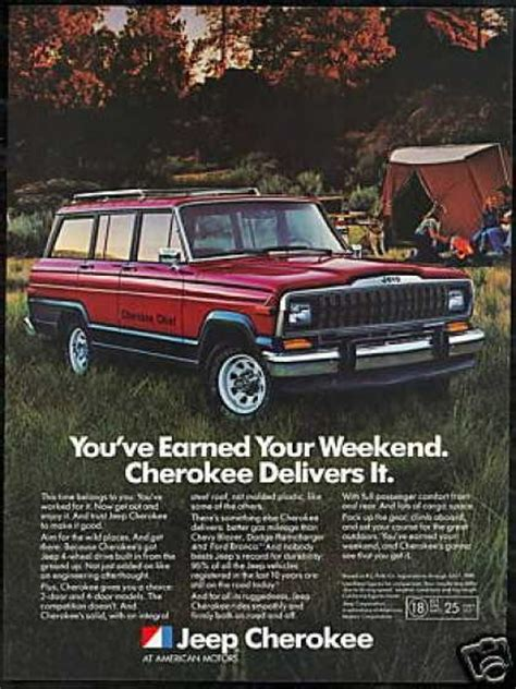 jeep cherokee ads 1982 jeep cherokee chief ad automobile ads pinterest