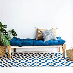 Tapis Bleu Scandinave : tapis en coton pour l 39 t notre s lection marie claire ~ Teatrodelosmanantiales.com Idées de Décoration