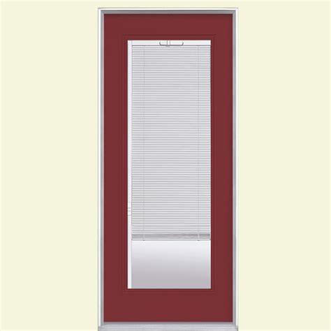 masonite 32 in x 80 in mini blind painted steel prehung