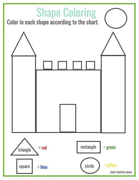 free printable shape coloring printable math