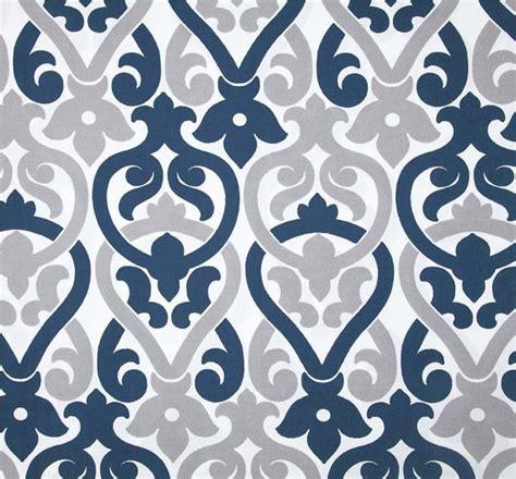 designer navy blue grey indoor outdoor fabric by by