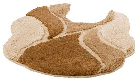 unique shaped  slip washable bathroom rug vamonte