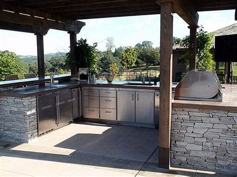 u shaped outdoor kitchen designs outdoor kitchen layouts sles ideas landscaping 8652