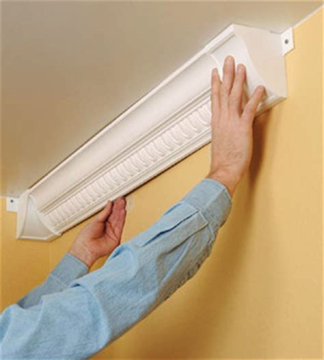 Installing Plastic Crown Molding  How To Cut & Install