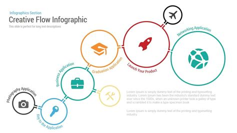 creative flow infographic powerpoint template powerpoint