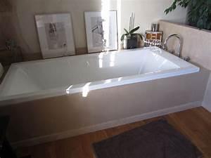 Tablier De Baignoire À Carreler : salle de bains beton cire sur tablier de baignoire ~ Dode.kayakingforconservation.com Idées de Décoration