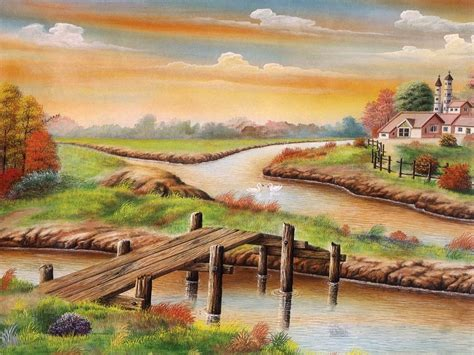 beautiful india village nice painting poster wallpapers