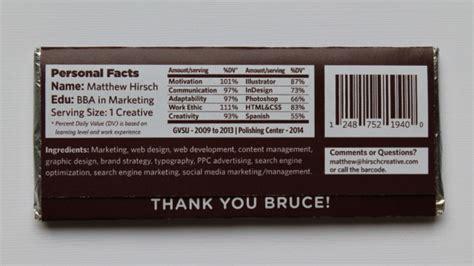 Chocolate Bar Resume by An Ingenious Chocolate Bar Resum 233
