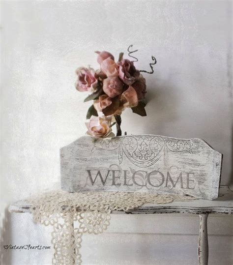 Vintage Welcome Sign. French Flea Market by 3vintagehearts ...