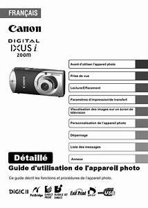 Multimetre Digital Mode D Emploi : mode d 39 emploi canon digital ixus i zoom appareil photo ~ Dailycaller-alerts.com Idées de Décoration