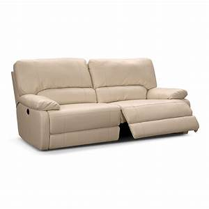 Coronado leather power reclining sofa value city furniture for Sectional sofas power recliners